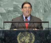 El canciller cubano instó a un cambio en la ONU y a un nuevo orden mundial más justo y equilibrado.