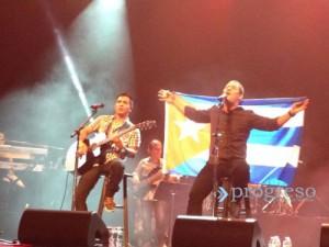 Buena Fe durante el concierto en Miami.
