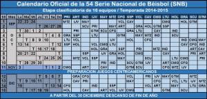 calendario 54 Serie Nacional