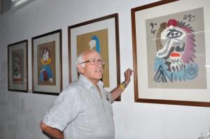 Durante una semana, parte de la colección fue exhibida en la Galería de Arte Oscar Fernández Morera. (Foto: Vicente Brito)