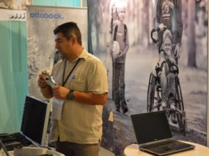 Entre las empresas que exponen en el congreso de ortopedia se encuentra la alemana Ottobock.