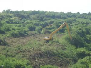 Equipos pesados ya comenzaron a despejar el cauce del río Jatibonico del Sur.