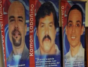 Desde varias tribunas los espirituanos demandan la pronta liberación de Gerardo, Ramón y Antonio.