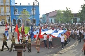 La Marcha Estudiantil y Juvenil Los Pinos Nuevos constituye una iniciativa del Buró Nacional de la UJC. (Foto: Vicente Brito)
