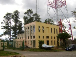 La torre asegura señales de radio y televisión a la zona de Topes de Collantes y otras comunidades vecinas. / Foto: Cortesía de Radiocuba.