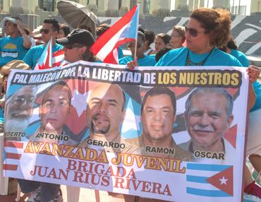 Voces cubanas y boricuas se alzan nuevamente bajo la consigna ¡Por la libertad de los nuestros!.