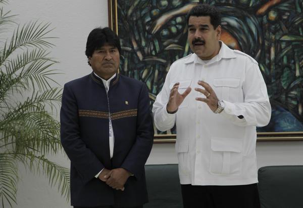Nicolás Maduro y Evo Morales durante su intercambio con la prensa en La Habana. Foto: Ismael Francisco