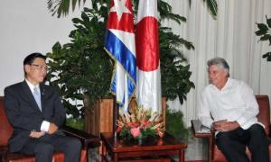 Ambas partes dialogaron acerca del buen desarrollo de las relaciones bilaterales entre Japón y Cuba.
