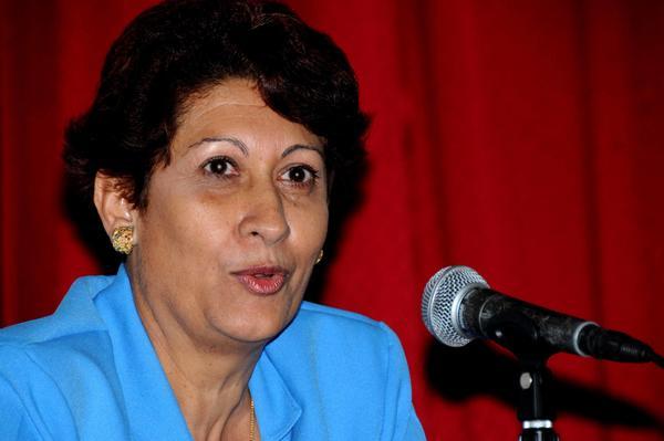 Ena Elsa Velázquez Cobiella, Ministra de Educación de Cuba. FOTO/Omara GARCÍA MEDEROS