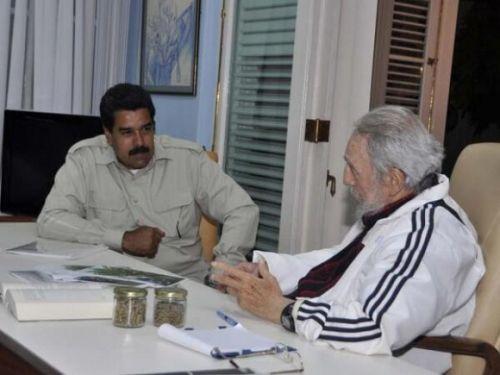 """Maduro y Fidel conversaron sobre la revolución agraria y la revolución alimentaria """"que necesita hacer"""" América Latina."""