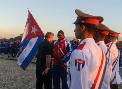 La delegación cubana fue abanderada por el primer vicepresidente cubano, Miguel Díaz-Canel.