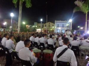 La Banda de Música dedicó el concierto a las víctimas del terrorismo y a los 56 años de creación del Frente Norte de Las Villas.
