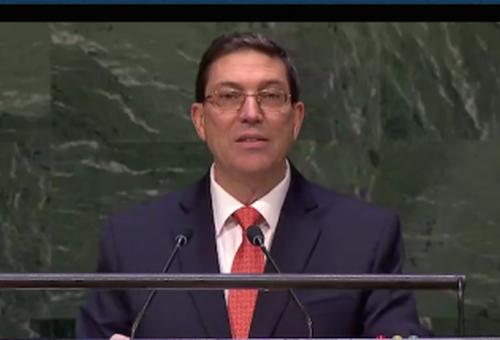 Cuba nunca renunciará a su soberanía ni al camino libremente escogido por su pueblo, expresó el Canciller Cubano.