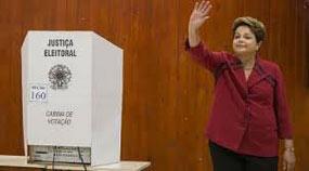 Dilma Rousseff invitó  a los electores a acudir y ejercer su derecho al voto.