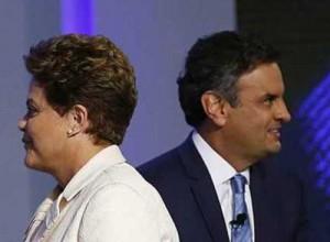 Dilma Rousseff y Aécio Neves, los dos candidatos a la presidencia de Brasil.