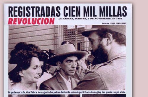 La prensa reflejó ampliamente la consternación de familiares, amigos, compañeros y pueblo en general, así como la búsqueda intensiva del Héroe por todo el archipiélago cubano .
