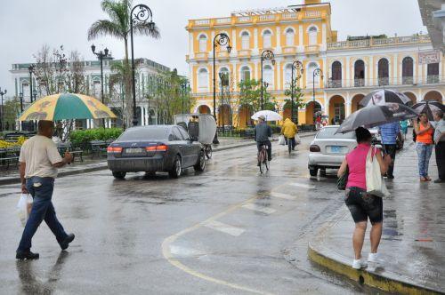 En la ciudad de Sancti Spíritus la lluvia alcanzó un total de 87 mm.