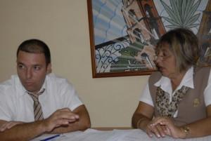 María Victoria Martínez y Erix García, ejecutivos de Bandec que dialogaron con Escambray.