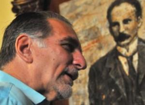 René González en la sede la Unión de Periodistas de Cuba, en septiembre de 2014. Foto: Ricardo López Hevia.
