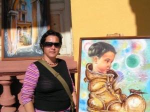 Yudit es graduada de la Escuela Profesional de Artes  Plásticas Oscar Fernández Morera.
