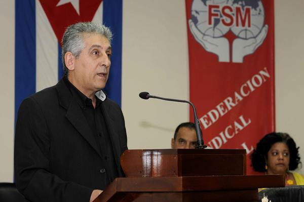 Mavrikos expresó que Cuba no está sola y son muchos los países que rechazan el bloqueo. Foto AIN.