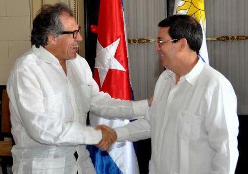 Almagro agradeció, igualmente, el apoyo de Cuba a Uruguay en varias esferas.