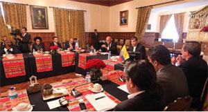 Correa ofreció en Quito una rueda de prensa junto a su colega haitiano, Michel Martelly.