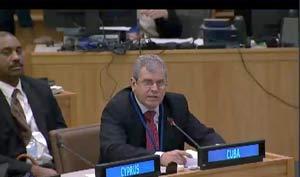 Homero Acosta reiteró la solidaridad de Cuba con el pueblo palestino.