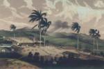 """Ingenio Güinia de Soto. Litografía de Eduardo Laplante, publicada en el libro """"Los ingenios"""", de Justo Germán Cantero. (1857)"""