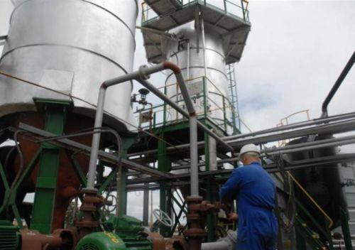 La planta espirituana usa como materia prima el crudo de la cuenca Pina-Cristales-Jatibonico.