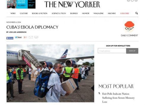 """""""Este gesto enorme de Cuba hacia África Occidental no ha pasado desapercibido"""", asegura el periodista Lee Anderson."""