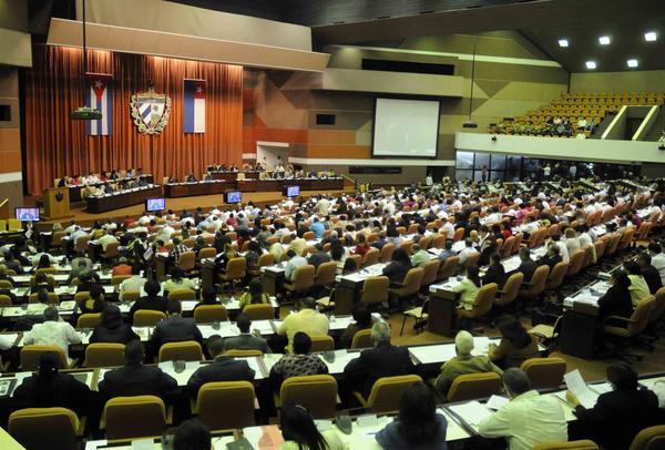 Asistentes al Cuarto Periodo de Sesiones de la VIII Legislatura de la Asamblea Nacional  del Poder Popular. Foto AIN.
