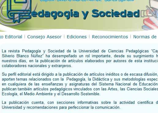 Pedagogía y Sociedad tiene salida trimestral y puede ser consultada en el sitio web CubaEduca.