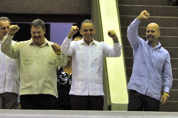 Gerardo, Antonio y Ramón expresaron su gratitud por el respaldo internacional a su causa. Foto AIN.