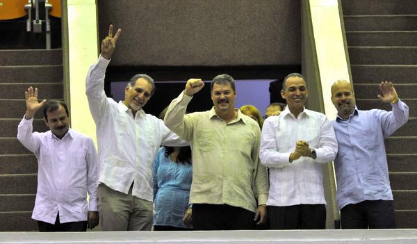 Los Cinco participaron en la sesión clausura del Parlamento cubano.
