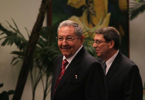 Raúl recibió este martes a primeros ministros caribeños, acompañado por el canciller Bruno Rodríguez.