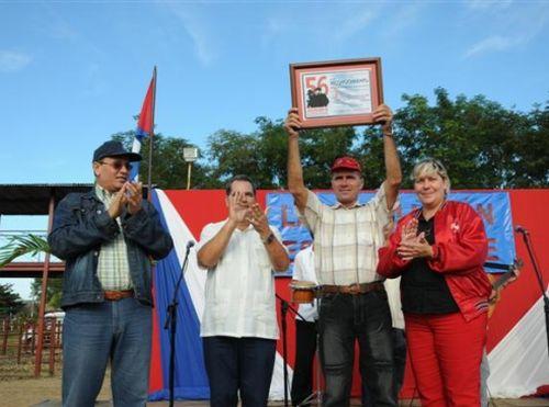 sancti spiritus, aniversario 56 de la revolucion cubana, sur del jíbaro, arrocera, produccion de arroz