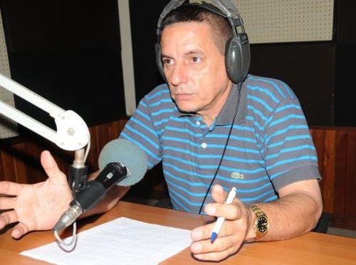 Juan Carlos Castellón Véliz, locutor de Radio Sancti Spíritus y corresponsal de Radio Rebelde.
