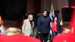 Maduro y Mujica sostuvieron conversaciones durante alrededor de tres horas y media en el Palacio de Miraflores.