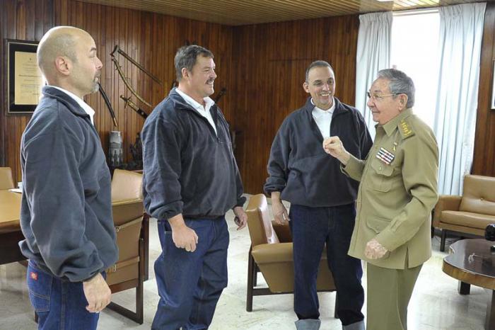 los cinco, antiterrroristas cubanos, ramon, gerardo y antonio, cuba, raul castro