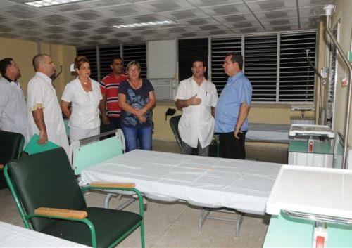 sancti spiritus, hospital provincial camilo cienfuegos, aniversario 56 del triunfo de la revolucion