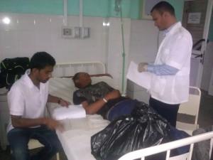 Solo cinco de los accidentados permanecen ingresados en el Hospital General Universitario Camilo Cienfuegos. Foto Dayamis Sotolongo.