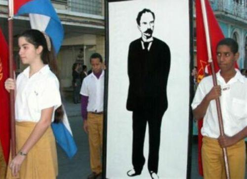 jose marti, aniversario 162 del natalicio de jose marti, pioneros cubanos