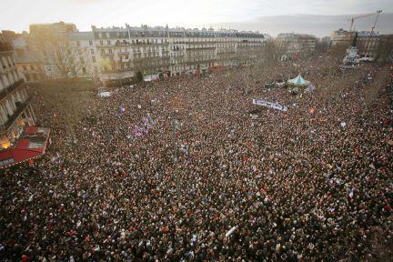 La movilización alcanzó en Francia cerca de 1,5 millones de participantes.