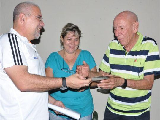 heriberto moreno, inder, sancti spiritus, presidente del inder, movimiento deportivo cubano, atletas, deportistas