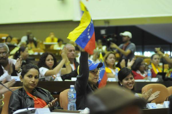Vista del Plenario del Panel sobre el Pensamiento de Hugo Chávez en  Pedagogía 2015. Foto AIN.