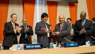 Constituye un honor entregar el mandato a Sudáfrica, afirmó Evo Morales.