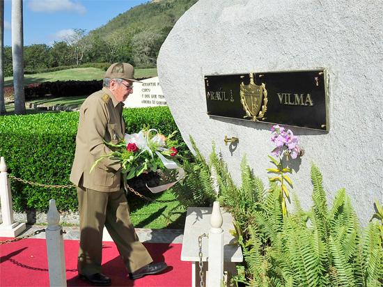 raul castro, presidente cubano, vilma espin, revolucion cubana, horoes y martires de la patria, santiago mde cuba
