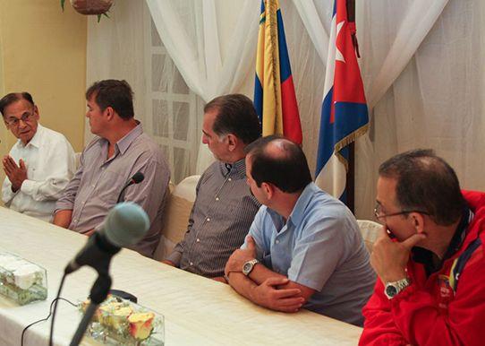 los cinco en la embajada de venezuela en cuba