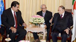 Maduro comunicó tras una reunión con Bouteflika que el líder argelino respaldará la iniciativa venezolana para recuperar los deprimidos precios del petróleo.